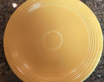 "Fiesta Ware 13"" Chop Plate yellow"