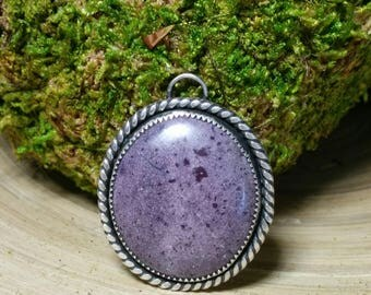 Stunning Sterling Silver Purple Charoite Pendant