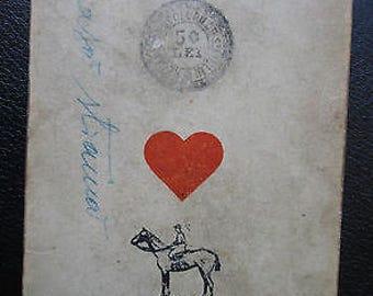 C.1900 Old Romany Fortune Teller's Cards Rare Hand Scripted 51/52 Ferd. Piatnik
