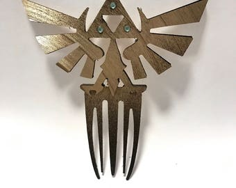 Hyrulian Crest Recycled Hair Pin