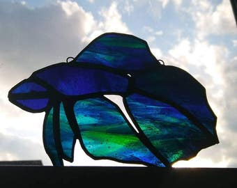 Custom Made Stained Glass Betta Fish