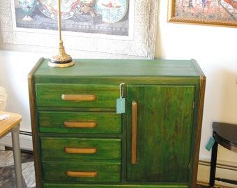Green Art Deco Dresser