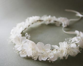 Real stabilized/Eternal Flower wedding Crown/Tiara  Lily with REAL eternal (stabilized) flowers