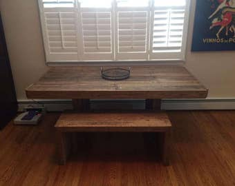 Reclaimed Pallet Dining Table and Bench (Indoor)