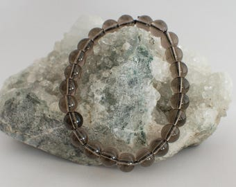 Bracelet Quartz smoked 8 mm