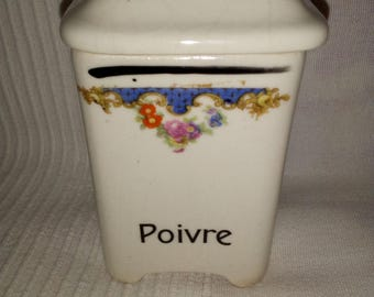 Pot to pepper ceramic of the 1930s
