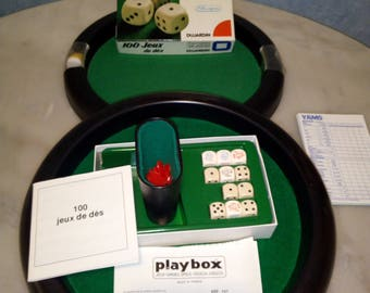2 tracks of dice games with his box of 100 games
