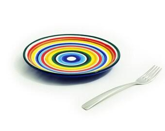 Rainbow cake plate