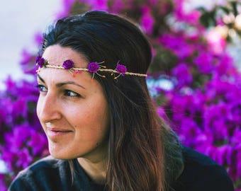 Chaplet of flowers/floral wreath/wreath/flower crown/marriage/wedding/
