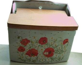 Vintage - ceramic - enamel - wall - salt tank