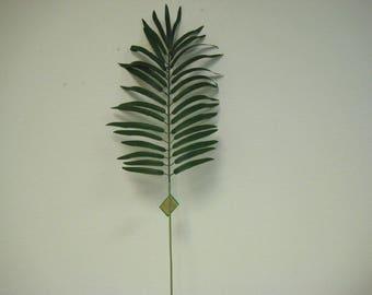 "6 Sprays Palm Leaf 27"" Artificial Silk Stems 374GR"