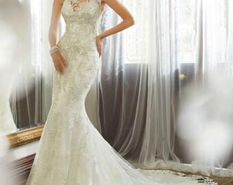 Vestido De Casamento Mermaid Lace Wedding Dress