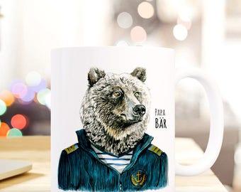 Gift Cup Papa bear sailor TS215 coffee mug