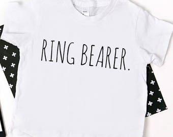 Ring Bearer Shirt; ring bearer tshirt; custom wedding party shirt set; wedding shirt; shirt for ring bearer; gift for ring bearer; custom