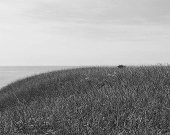 Coastal Geometry 1 - black and white, archival, museum quality, carbon inket, photograph