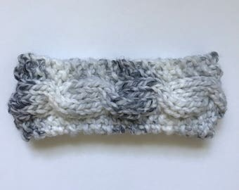 Twisted Cable Headband in Marble