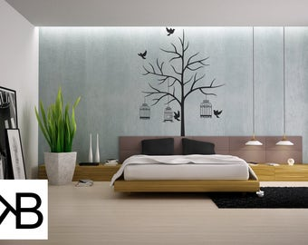 Wall Decal, Black Tree Decal, Adventure Stickers, Home Wall Stickers, Wanderlust, Wall stickers, Wall Decals, Adventure