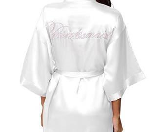 BRIDESMAID Crystal Kimono Style Robe