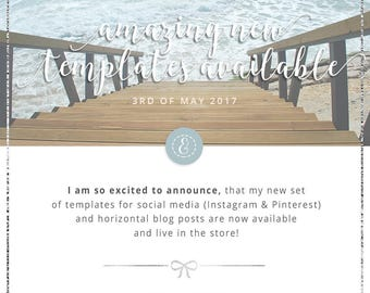 Silver Lining Social Media Horizontal Blog Templates