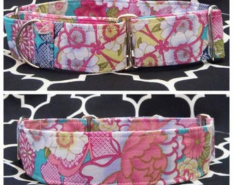 Tea Party Dog Collar / Martingale