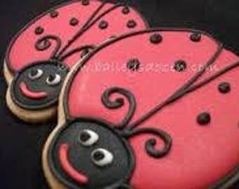 Custom decorated ladybug cookies