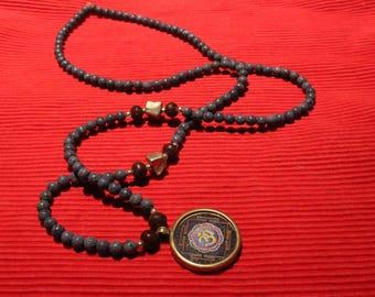 Om and Snake Pendant Mala
