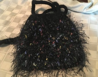Felted Black Evening Bag