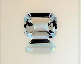 Emerald cut Loose Aquamarine, Aqua, Loose Gemstone, Blue Gemstone, Jewelry Making Supplies