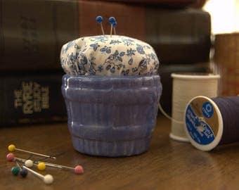 Blue Bucket Pin Cushion