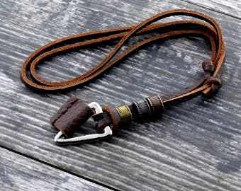 Mens surfer necklace Etsy