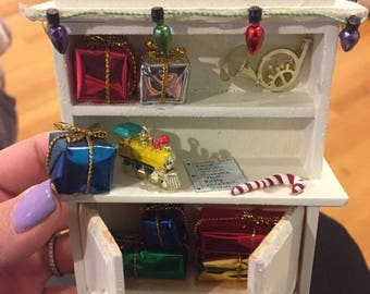 Christmas Furniture for Miniature Dollhouse 1:12 scale