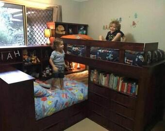 Corner loft Beds
