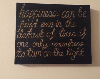 Harry Potter inspired quote canvas