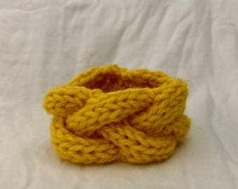 Knitted Cable Bracelet