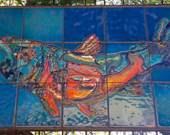 Colorful Fish Painted on Tile