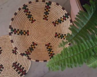 Tray Berber ethnic patterns