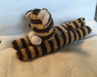 Knitted Lying little tiger