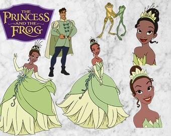 Princess and the Frog SVG, Clipart, Tiana Princess SVG, Tiana Princess Vector files. Tiana Cutfiles, Disney princess Printable PNG.