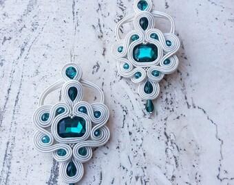 Earrings soutache Morgana
