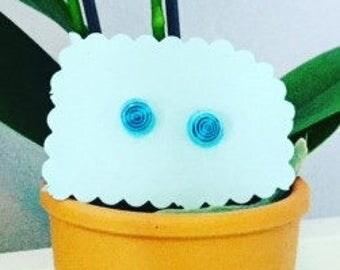 Little Blue Swirly Earrings