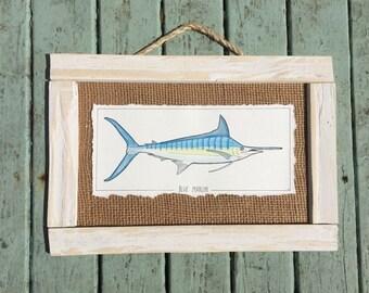 Watercolor Marlin