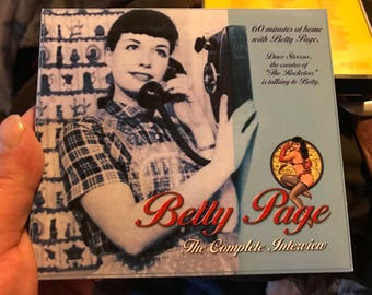 Bettie Page Interview CD! Rare & OOP! Like New!