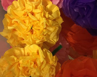 Cinco de Mayo Fiesta paper flowers(12count)