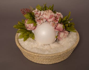 Details about  Photography propslight pink floral crown peony flower headband floral headpiece portait portraiture