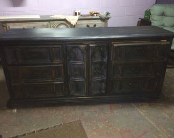 9 drawer refinished dresser-PRICE REDUCED today only!