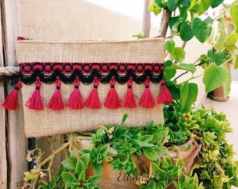 Pouch handmade - woman - Beige