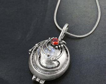 Vampire Diaries Elena S Vervain Antique Locket Vintage Necklace Silver Pendant