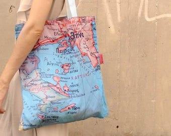 Handmade Mapping Shopping Bag