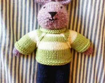 Charlie the bunny rabbit - handmade 100% wool, baby shower, toddler, easter, boy , girl, Easter bunny