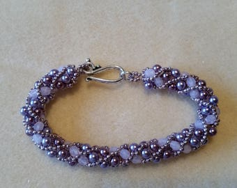 Home made Russian Spiral Bracelet Violet Rose